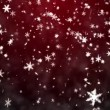 Stock Video: Christmas background with snowflakes - falling snow