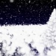 Royalty-Free Stock : Christmas fur-tree and falling snow