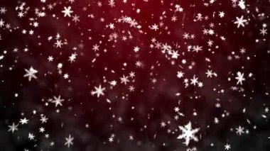 Christmas background with snowflakes - falling snow — Stock Video