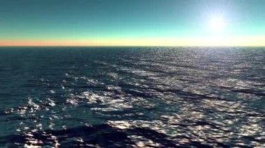 Ocean, sun and sky — Stock Video