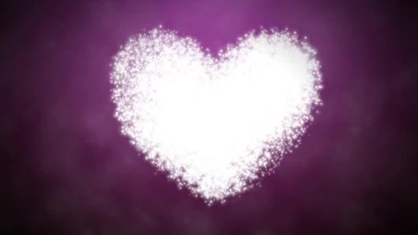 Corazón - San Valentín sagrado día — Vídeo de stock