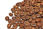 Coffee grains on a white background — Stock Photo