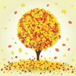 Autumn maple tree — Stock Vector