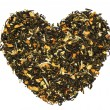 Heart from fruit green tea — Stock Photo
