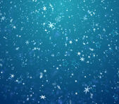 The winter background, falling snowflakes and stars — Stock Photo