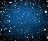 Winter background with falling snowflakes and stars — Stock Photo