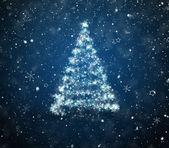 Nya året träd med en stjärna — Stockfoto