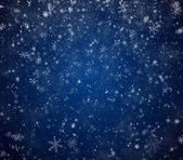The winter background, falling snowflakes — Stock Photo