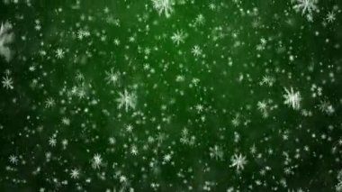 Falling snowflakes, snow background — Stock Video