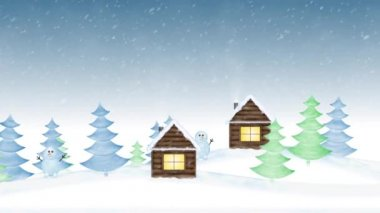 Christmas village — Video Stock