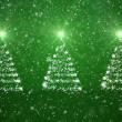 Christmas trees with falling snowflakes and stars — Stock Photo #17691127