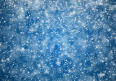 Falling snowflakes, snow background — Stock Photo