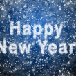 Inscription of Happy New Year from snowflakes — Stock Photo
