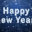 Inscription of Happy New Year from snowflakes — Stockvideo