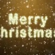 Inscription of Merry Christmas from snowflakes - Foto de Stock  