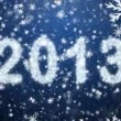 Inscription of 2013 from snowflakes — Vídeo de stock