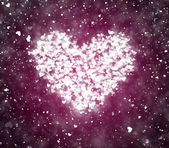 Valentine's day background with hearts and particles — Stockfoto