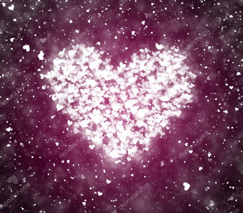 Valentine's day background with hearts and particles — Stock Photo #18950535