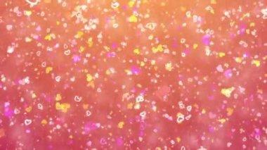Cuori e particelle volanti — Video Stock