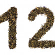 Tea numbers — Stock Photo