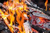 Флейм с углями — Стоковое фото