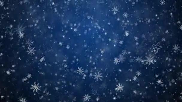 Fondo de Navidad invierno — Vídeo de stock
