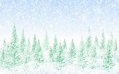 Foresta natale inverno — Foto Stock