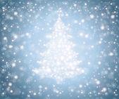 árbol de navidad de los copos de nieve — Vector de stock