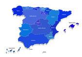 Vector map of Spain — Stock Vector