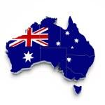 Australia 3D flag map on white — Stock Photo #6221836