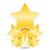 金色の星 — ストックベクタ