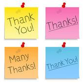 Merci notes post-it — Vecteur