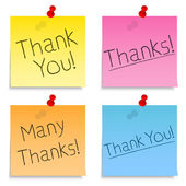 Thank You Post-It Notes — Stock Vector