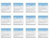 2013 calendario. — Vector de stock