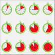 Time Indicators — Stock Vector