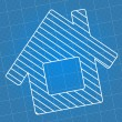 Stock Vector: Blueprint House