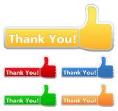 Teşekkür ederim etiketleri — Stok Vektör