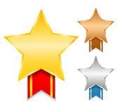 Star awards — Stockvector