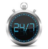 24/7 Concept — Stock Vector