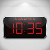 цифровые часы — Cтоковый вектор