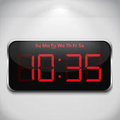 Digital clock — Stok Vektör