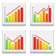 Graphs Icons — Stock Vector #12355760