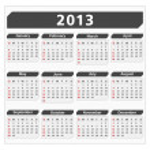 2013 Calendar — Stock Vector #12355779