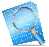 Icona di ricerca file — Vettoriale Stock