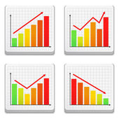 Graphs Icons — Stock Vector