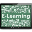 E-Learning Concept - Stok Vektr