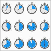 Timer ikoner — Stockvektor