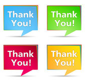 Speech Bubbles with 'Thank You!' words — 图库矢量图片