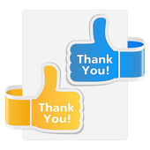 Thank you labels — Stock Vector