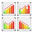 Bar Graphs — Stock Vector